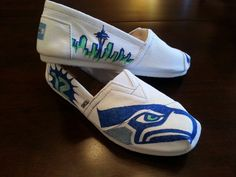 Any design, team, sport you want can be put on a shoe to show off your pride! We can figure out the design you want that best fits what you are