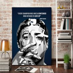 Rocky Balboa Quotes Canvas Giclee Print Painting Picture Wall Art Split Canvases Home Decorations, Gifts ✓ 3 Panels Split Canvas Size Size Size ✓ 1 Panel Canvas Size Size Rocky Balboa Quotes, Canvas Quotes, Canvas Home, Pictures To Paint, Picture Wall, Giclee Print, Mount Rushmore, Wall Art, Arts