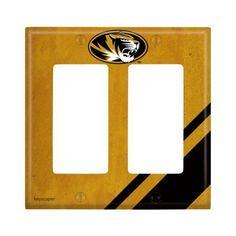 Missouri Tigers Double Rocker Light Switch Cover