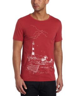 Ben Sherman Men's Plectrum Discharge Print Shore Tee  Atlantic  LargeFrom #Ben Sherman List Price: $65.00Price: $31.90