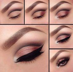 New makeup eyeshadow cut crease make up Ideas Copper Eyeshadow, Makeup Eyeshadow, Eyeshadows, Eyeshadow Palette, Glitter Eyeshadow, Gray Eyeshadow, Eyeshadow Ideas, Makeup Brushes, Gel Eyeliner