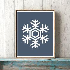 Snowflake Print Printable Art Home Print Christmas by KYLOprints
