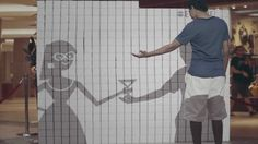 """""""Love Your Eyes"""" Interactive Campaign - just wow! i love how the animation get interactive with the audiences..."""