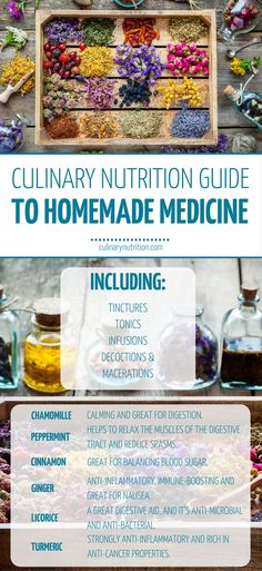 Tinctures and Tonics Culinary Nutrition Guide To Homemade Medicine Holistic Nutrition, Nutrition Guide, Healing Herbs, Medicinal Herbs, Natural Health Remedies, Herbal Remedies, Ginger Anti Inflammatory, Homemade Cough Remedies, Lotion