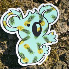 Pineapple Koala Sticker