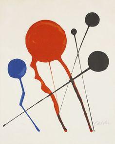 Alexander Calder, Balloons, 1968, lithograph