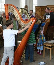 Confirmed! A harp recital and display of Harps in the church.  A really special musical treat not to be missed - the display is there all day and the recital is at 3.pm.  Live music all day which is great.
