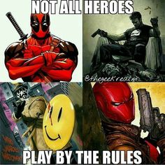 Which would you love to see roaming around in reality #deadpool  #redhood  #punisher #rorschach #heroes #tfc69  #heroes  #marvel #dc #comics #fun #likeforlike #followforfollow