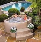 hot tub with planters