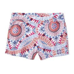 Old Navy | Girls Patterned Terry-Fleece Shorts ($3.99) ❤ liked on Polyvore featuring shorts и short