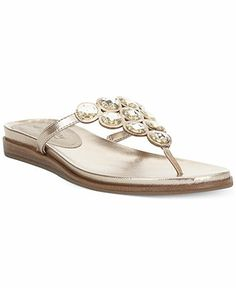 5b379a06b Kenneth Cole Reaction Net Keeper Bling Thong Flat Sandals   Reviews -  Sandals   Flip Flops - Shoes - Macy s