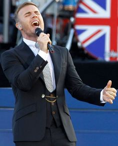 Gary Barlow takes to the #jubilee stage #wearingwestwood Man