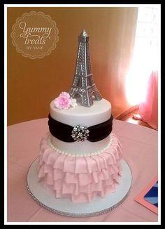 Southern Blue Celebrations: Paris Cake Ideas