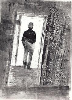Beautiful monoprint by Linda Bennett at the Red Hot Press, Southampton