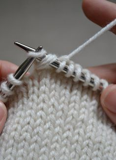 Wrap & turn in knitting, and how to pick up the wrapped stitches.
