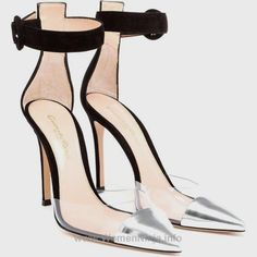 eb2dd085a8 With a black suede heel, PVC inserts and a silver patent leather toe, these  hand-made pumps combine a flattering silhouette with everyday comfort.