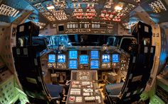 WHAT A SPACE SHUTTLE COCKPIT LOOKS LIKE   Photograph by Ben Cooper @ LaunchPhotography.com   Prints Available     In this incredible photo by Ben Cooper, we see the highly sophisticated flight deck (cockpit) of the NASA space shuttle, Endeavour. This is just one of the amazing photos from Ben's photo tour