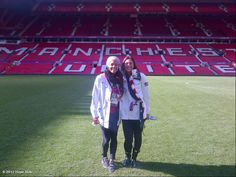 Sydney Leroux and Hope Solo on the pitch at Old Trafford, the home of Manchester United and the venue for Tuesday's match between the United States and North Korean. (Hope Solo/WhoSay)