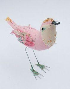 Melijoe.com ♥ ... Pink bird by Abigail Brown. http://www.abigail-brown.co.uk/birds/