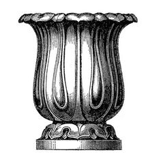 Vintage Clip Art - Classic Garden Urns - The Graphics Fairy