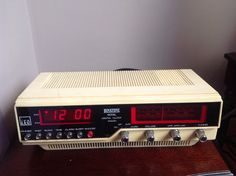 1980s Vintage Retro Beige Digital Alarm/ Clock Radioby BINATONE ...Please save this pin.  Because for vintage collectibles - Click on the following link!.. http://www.ebay.com/usr/prestige_online