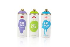 "Krylon ""Art Pop"" Spray Paint. Designed by: Alexandra Mojica, USA."