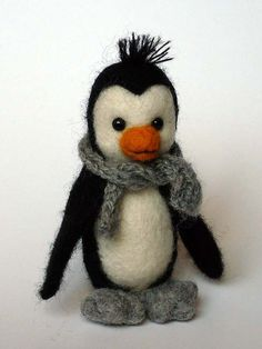 Love this sweet needle felted penguin