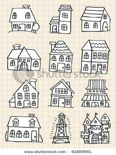 Little Houses..I always tend to draw houses the same way hah