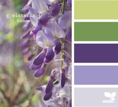 I never see many green wedding palettes, but they're gorgeous when tempered with a little soft purple.