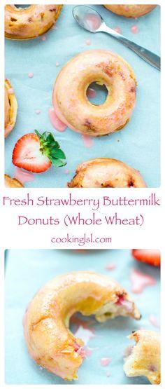 #breastcancerawareness #october Strawberry-Buttermilk-Donuts