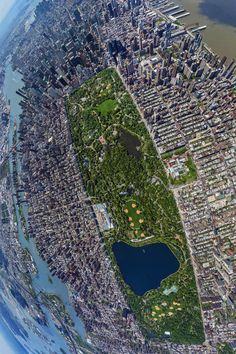 Ariel view of Central Park. New York City