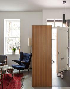 Kitchen of the Week: A Scandi Design in Brooklyn - Remodelista Appartement New York, Kitchen Worktop, Cabinet Styles, Built In Storage, Shoe Storage, Ideal Home, Home Remodeling, Kitchen Remodel, Living Room