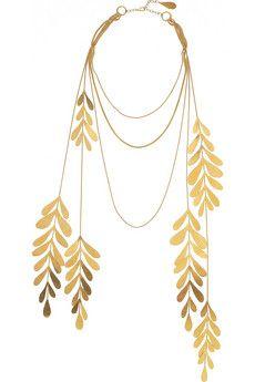 24-karat gold-plated leaf necklace ($500-5000) - Svpply