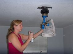 Another spray painted fan without taking it all down.