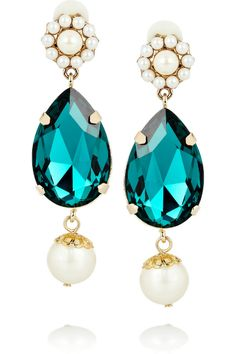Dolce & Gabbana Gold-plated Swarovski Crystal Clip Earrings - Munaluchi Bridal