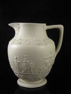 Rare Herculaneum Liverpool Pottery Relief Moulded Stoneware Jug c.1800 £200