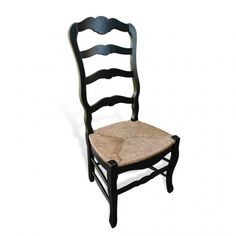 320 Country French Chair w Rush Seat