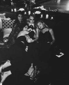 Kendall Jenner, Gigi Hadid, Cara Delevingne and Kourtney Kardashian