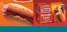 Broodje unox. Bread with smoked sausage. Unox is a brandname