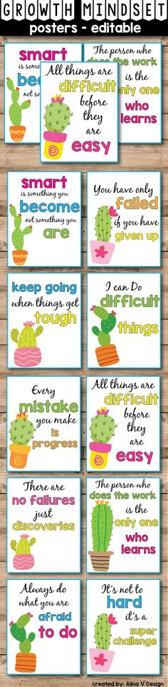 These growth mindset posters are the perfect addition to your succulent theme classroom decor. Classroom Decor Themes, New Classroom, Classroom Organization, Classroom Ideas, Diy Organization, Classroom Design, Classroom Labels, Growth Mindset Posters, Mindset Quotes