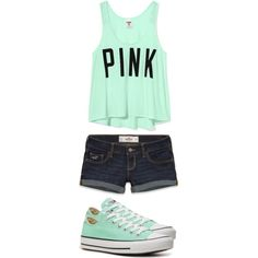 A fashion look from February 2013 featuring Victoria's Secret tops, Hollister Co. shorts and Converse sneakers. Browse and shop related looks.