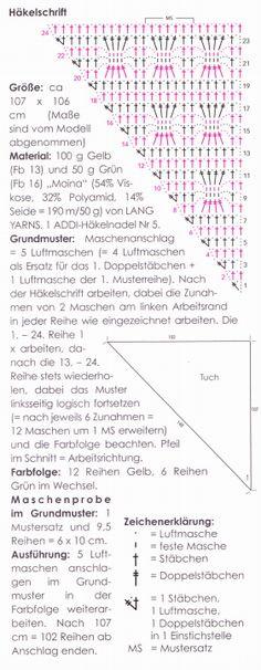 Gehäkeltes Dreieckstuch - Nadelstärke 5