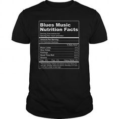 Blues Music Nutrition Facts T Shirts, Hoodies, Sweatshirts. GET ONE ==> https://www.sunfrog.com/Music/Blues-Music-Nutrition-Facts-Black-Guys.html?41382