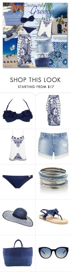 """""""Destination: Greece..."""" by nannerl27forever ❤ liked on Polyvore featuring Poesia, Wallis, Accessorize, Miss Selfridge, Tory Burch, Monsoon, Dorothy Perkins and Far + Wide Collective"""