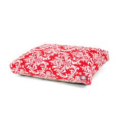 Majestic Pet Red French Rectangle Pet Bed Quarter Small * You can get more details by clicking on the image.