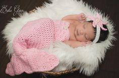 (4) Name: 'Crocheting : Newborn Mermaid Photography Prop Pattern
