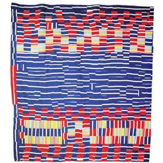 Quilt of the Day: Strip, by Cora Lee Hall Brown, 1981. Improvisationally pieced. Seen in the collection of Eli Leon.