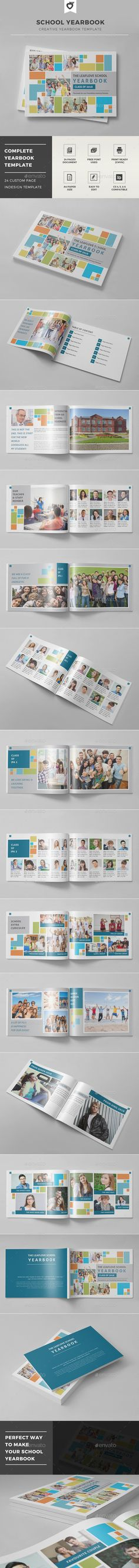 School Yearbook Template #design Download: http://graphicriver.net/item/school-yearbook-template/12583207?ref=ksioks