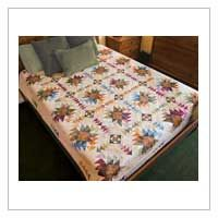 Texas Star Quilt. Kit available from Keepsake Quilting