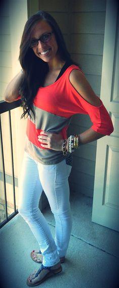 Top: TJ Maxx  Jeans: TJ Maxx  Sandals: Charming Charlies  Bracelets: Charlotte Russe